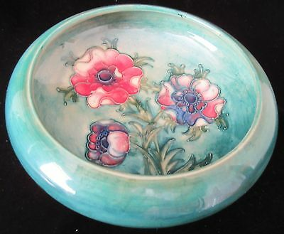 "VINTAGE WILLIAM MOORCROFT ""ANEMONE"" BOWL c.1950s"
