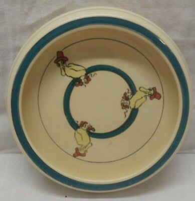 "Roseville Puddle Duck Vintage Baby Dish 7-3/4"" With Rolled Edge, Roseville Mark"