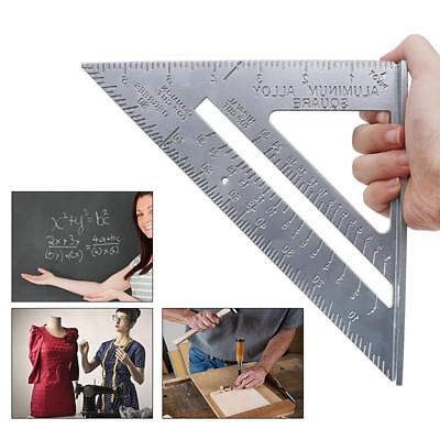 7inch Aluminum Alloy Measuring Right Angle Triangle Ruler Woodworking Guide Tool