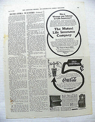 """1907,june12 Christian Herald Mag. """"sold Everywhere"""" 5 Cent Arrow To Flair Glass"""
