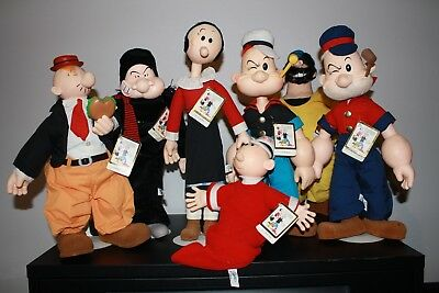 Popeye Figures 1985 Collection of 7 *Excellent Condition*