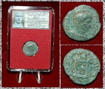 Ancient Roman Empire Coin Of CONSTANTINE THE GREAT VOTIS XX Globe Stars