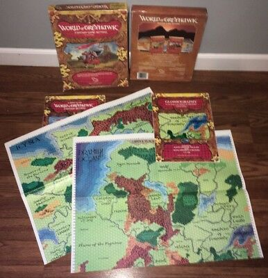 THE WORLD OF GREYHAWK #1015 Fantasy Game Campaign Setting Dungeons Dragons TSR