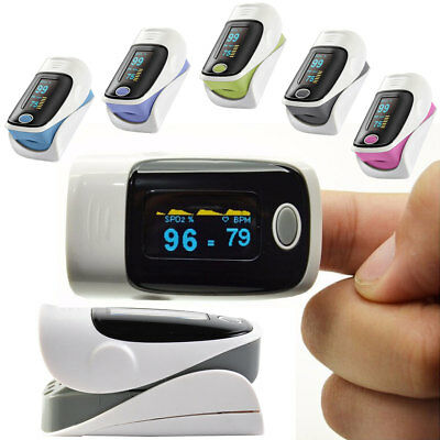 LED Fingertip Finger Pulse Oximeter Heart Rate Meter SPO2 Monitor Blood Oxygen