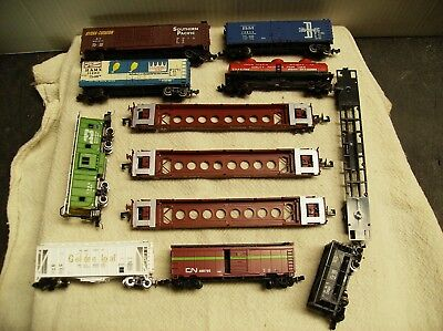 Lot of 12 n scale freight cars, double stacks.