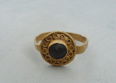 Ancient gold. Metal detector finds,  Medieval gold ring