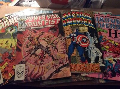 Super Hero Comic Book Lot Of 16 Different Bronze And Silver Age