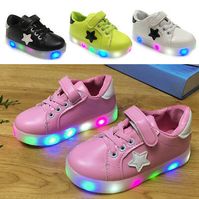 Kids Child LED Flashing Shoes Colorful Light Shoes Kids Luminous Casual Sneakers