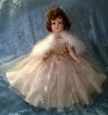 """Vtg 1949 """"arranbee"""" """"queen Of The Ball""""nanette Doll. Hp 19"""" Doll.original Outfit"""