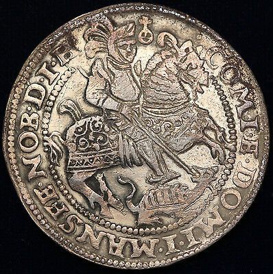 Germany Mansfield-Friedeburg 1597 1 Thaler Taler Silver Coin XF DAV-9510 German