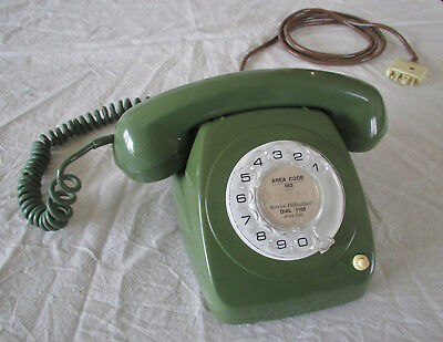 Collectable old Dial Telephone Telecom model 8021 office phone in nice green
