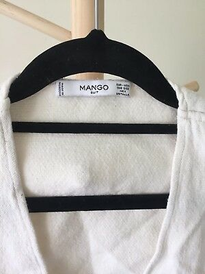 Mango Suit Jacket - Beige - Size Medium