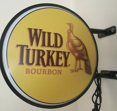 Wild Turkey LED Doublesided Lightbox Light Box 240v 400mm more designs available