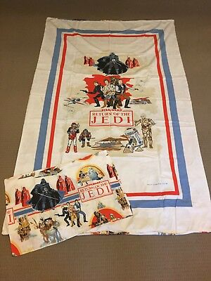 Star Wars Return Of The Jedi Single Doona Cover Pillow Case Vintage 1983