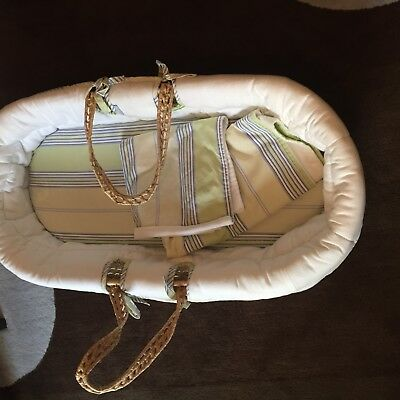 Serena And Lily Fabric Lined Baby Moses Basket