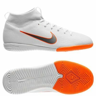 official photos 892de 87415 NIKE MERCURIAL SUPERFLYX VI IC Indoor 2018 DF Aca Soccer Shoes Kids Youth  White