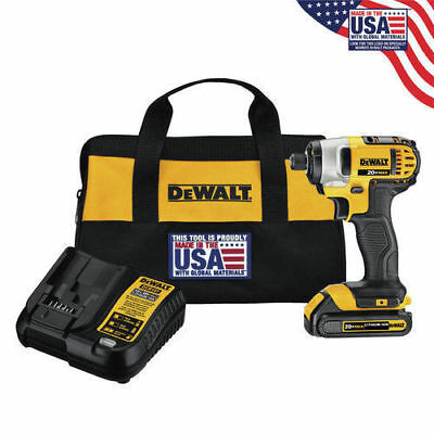 Dewalt 20V MAX 1.5 Ah Cordless Lithium-Ion 1/4 in. Impact Driver Kit ++