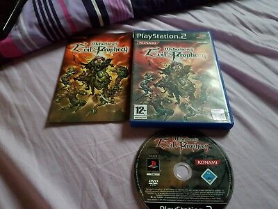 Evil prophecy complet PSX PS2 Playstation 2