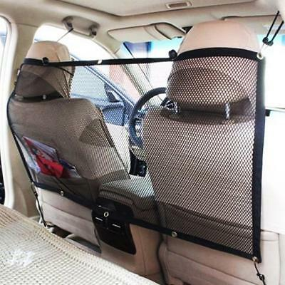 Durable Car Universal Back Seat Dog Pet Barrier Mesh Safety Net Guard B