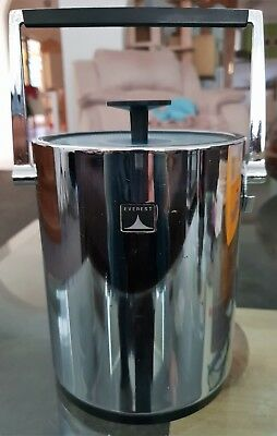Vintage Everest Icejar Chrome Ice Bucket Bar Item Cocktail