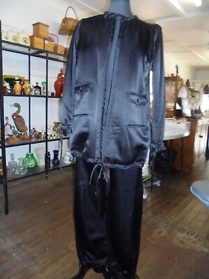 Pant suit 80's silk made in France by Courreges size 10