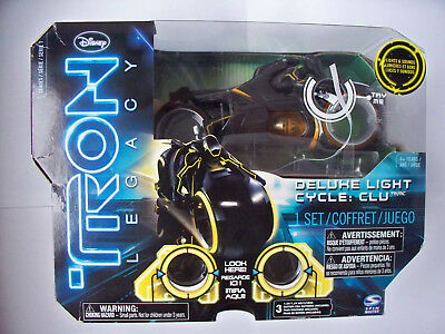 Disney Tron Legacy Deluxe Light Cycle CLU Collectible Toy Neu OVP Light Cycles