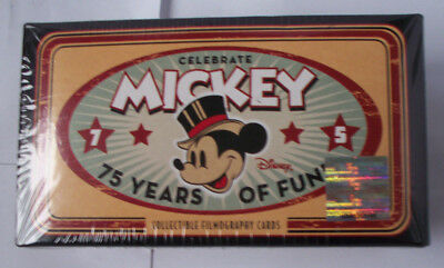 OVP Neu Disney Mickey 75 Years of Fun Celebrate Collecteble Filmographie Cards