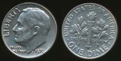United States, 1970 Dime, Roosevelt - Uncirculated