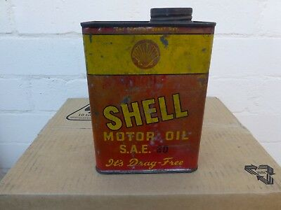 Early Shell Drag Free Oil Tin 1 Imp Quart