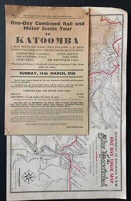 Handouts - Tour by Rail and Motor Scenic Tour Katoomba + others -1956