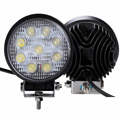 2X5INCH ROUND CREE LED Work Light Bar Spot Offroad Fog Driving Jeep SUV 4WD CA