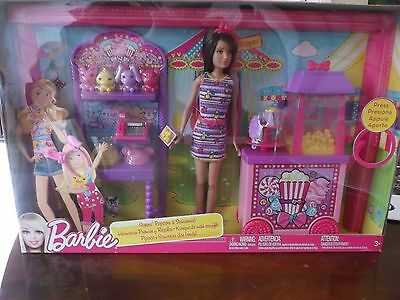 New Boxed Barbie Sisters' Popcorn and Souvenirs Set with Skipper Doll included.