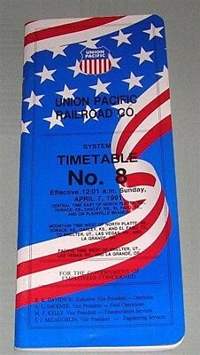 Union Pacific, System Timetable, No 8, 1991, USA, SC book
