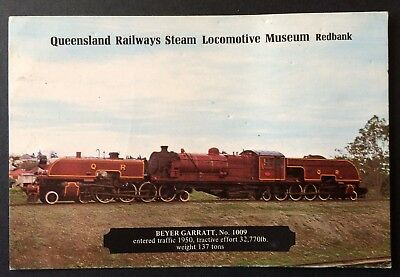 Card - Qld Railways Steam Locomotive Museum Redbank - Beyer Garratt No. 1009