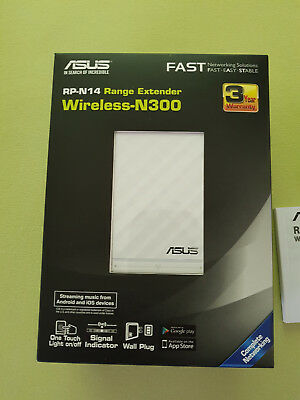 Asus RP-N14 N300 White Diamond WLAN Repeater (802.11 b/g/n)