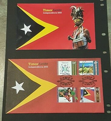 2002 Timor-Leste Independence Stamp Pack & FDC Rare.