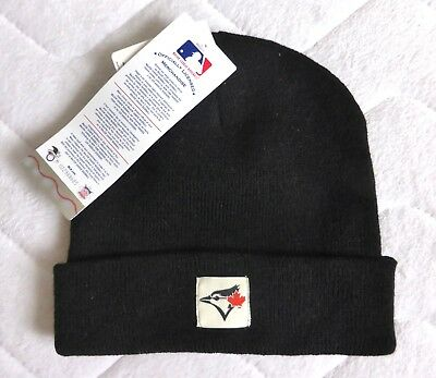 Toronto BLUE JAYS Official Black Cuff Beanie Toque Hat Baseball TAG canada