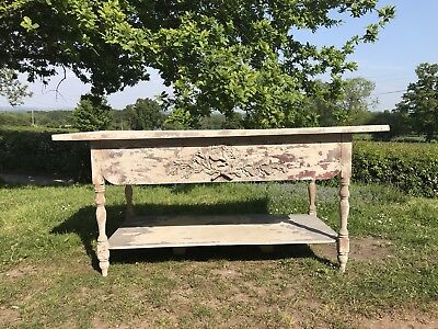 Distressed Antique French Table, Sideboard, Console Table, Country Dresser Base