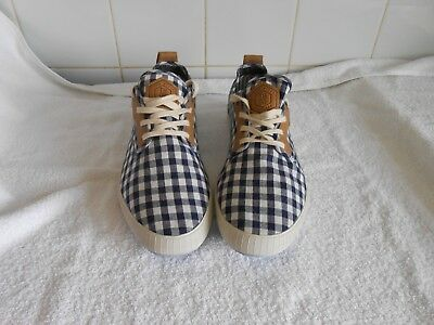 Ted Baker Man SUMMER  Blue Check  Sneakers Pumps Size UK 8 BNWOB