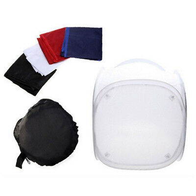 24 Inch 60x60cm Photo Studio Light Tent Cube Soft Box 4 Color