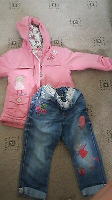 next bundle 18 - 24 months coat and jeans girls