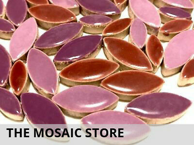 Purple Mixed Ceramic Petals - Mosaic Supplies Tiles Art Craft