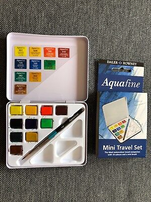 Aquarellset Daler Rowney Aquafine Mini Travel Set