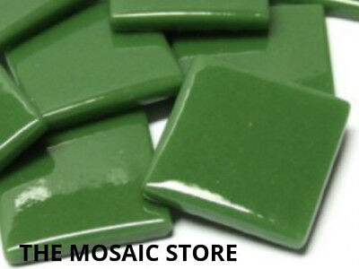 Pine Green Gloss Glass Tiles 2.5cm - Mosaic Tiles Supplies Art Craft