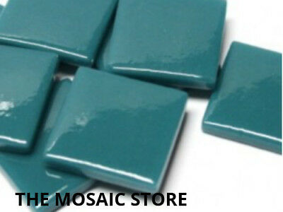 Dark Teal Gloss Glass Tiles 2.5cm - Mosaic Tiles Supplies Art Craft