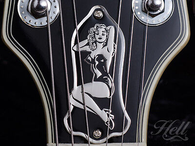 PIN-UP Brass Truss Rod Cover. Fits most Gibson, Les Paul, SG + more
