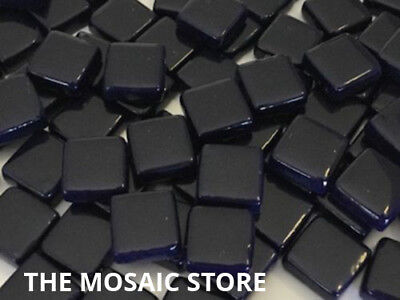 Dark Blue Gloss Glass Tiles 1cm - Mosaic Tiles Art & Craft Supplies