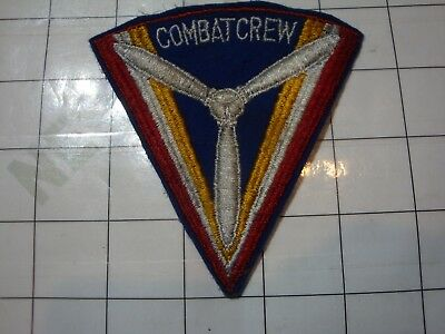 wwii military WW2 PATCH WOOL USA US AAF gunners COMBAT CREW shoulder triangle