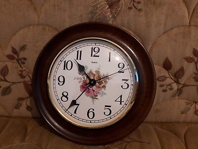 Rare antique mahogany wall clock - Made By F.T . Warrington