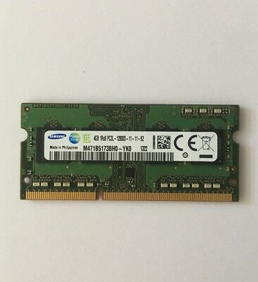 1x 4 GB Samsung  PC3L-12800S DDR3- SDRAM 204-pin Laptop Notebook